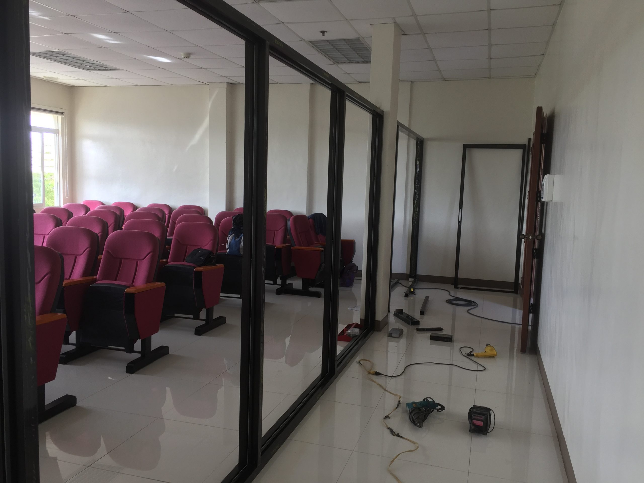 Installation of Glass Partition, PRISM